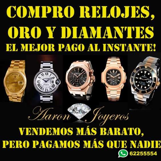 Compro y empeño relojes, diamantes y joyas, pago mejor que todos!