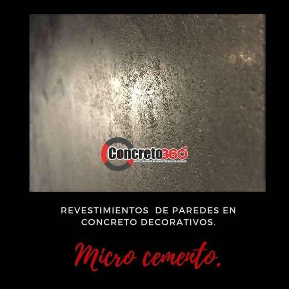 Microcemento revestimiento cementicio para pisos y paredes